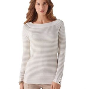 WHBM Ombre Striped Shimmer Sweater